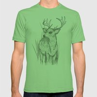White-Tailed  Mens Fitted Tee Grass SMALL