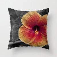 Color My Garden. Throw Pillow