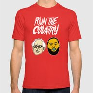 Run The Country Mens Fitted Tee Red SMALL
