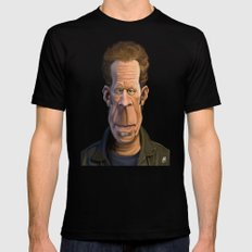 Celebrity Sunday ~ Tom Waits Mens Fitted Tee Black SMALL