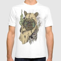 Zombwok Mens Fitted Tee White SMALL