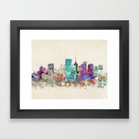 Richmond Virginia Skylin… Framed Art Print