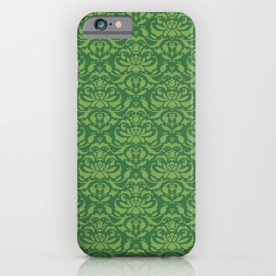 Cloud Factory Damask - Watergrass iPhone & iPod Case