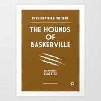 BBC Sherlock The Hounds of Baskerville Minimalist Poster Art Print