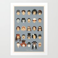 25 FACES OF JOHNNY Art Print