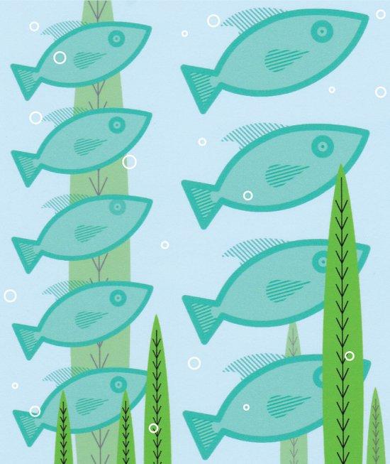 schooling fish Art Print