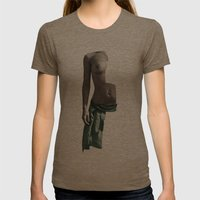 intropia Womens Fitted Tee Tri-Coffee SMALL