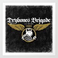 DryBones Brigade Art Print
