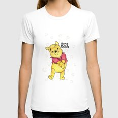 Winnie the Pooh Womens Fitted Tee White SMALL