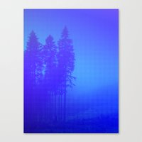 Blue And Blue Canvas Print