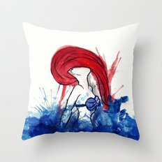 Ariel Splash Throw Pillow