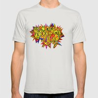 S6 TEE Zentangle with Pizzaz Mens Fitted Tee Silver SMALL