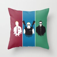 Blood & Ice Cream Throw Pillow