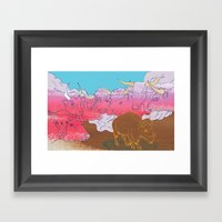 WHERE THE BUFFALO ROAM? Framed Art Print