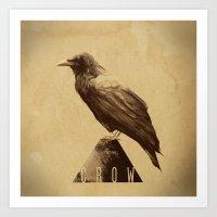 -CROW- Art Print