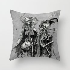 Danse Macabre (variation) Throw Pillow