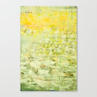 yellow greens Canvas Print