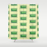 Stacked Rectangles Shower Curtain