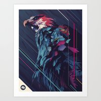 FISH EAGLE Art Print