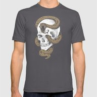 The Dark Mark Of You-Kno… Mens Fitted Tee Asphalt SMALL