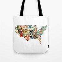 Geometric United States Tote Bag