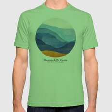 Mountains in the Morning Mens Fitted Tee Grass SMALL