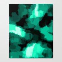 Emmy - Emerald green abstract art Canvas Print