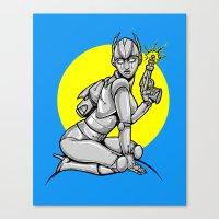 Robot Pinup Canvas Print