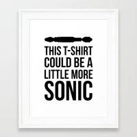 Sonic Tshirt Framed Art Print