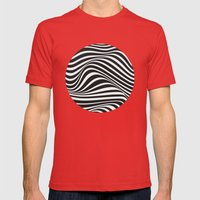 Wave Mens Fitted Tee Red SMALL