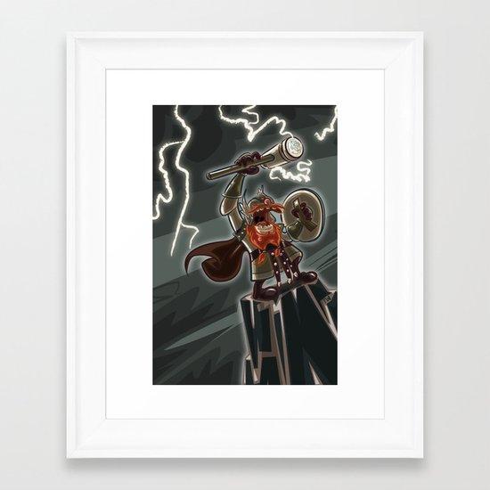 Bolt Thundersmite- Version2 Framed Art Print