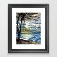 Kauai Sunrise Framed Art Print