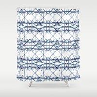 blue iron II Shower Curtain