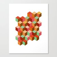 Cubes, Cubes And More Cu… Canvas Print