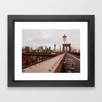 Brooklyn Bridge 02 Framed Art Print