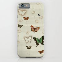 iPhone & iPod Case featuring Butterfly Coordinates iii by petite stitches
