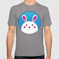 Chubby Bunny Mens Fitted Tee Tri-Grey SMALL