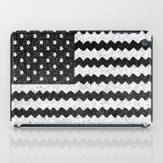 Black Zig Zag Flag iPad Case