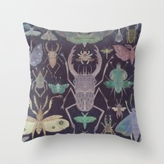 Entomologist's Wish (The Neon Version) Throw Pillow