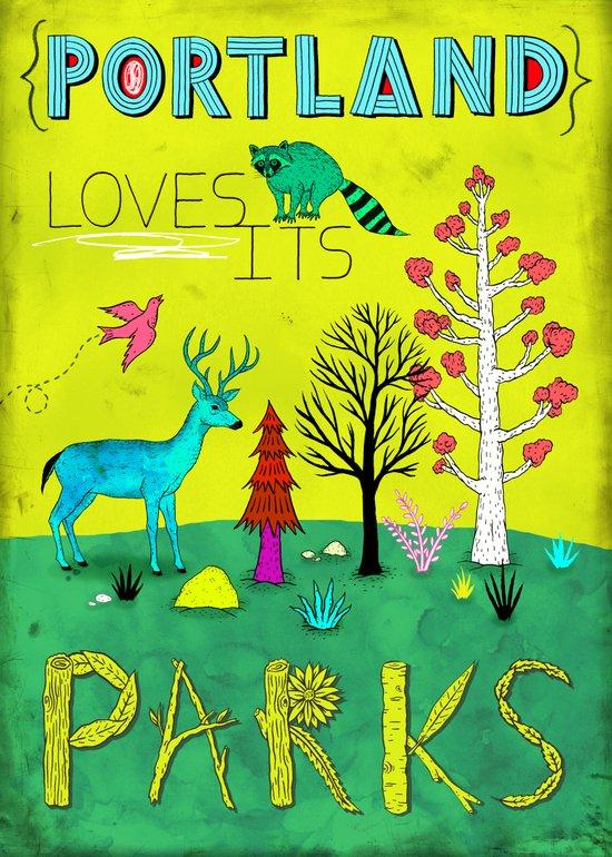 Portland Parks Art Print