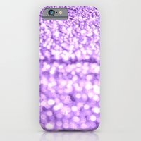 glitter iPhone & iPod Cases featuring Purple Glitter Sparkles by WhimsyRomance&Fun