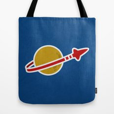 Blue Spaceman Tote Bag