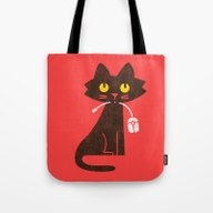 Fitz - Hungry Hungry Cat… Tote Bag
