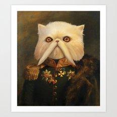 Persian Cat Emperor Art Print
