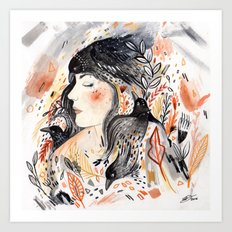 Crows & I Art Print