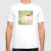 Little Honey Bee Mens Fitted Tee White SMALL