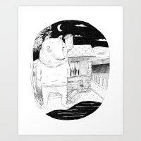 Night Bear  Art Print