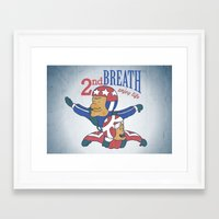 Second Breath Framed Art Print