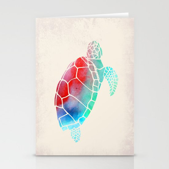 Watercolor Turtle Stationery Card