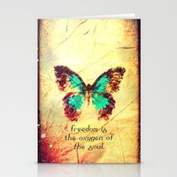BUTTERFLY OF FREEDOM - F… Stationery Cards